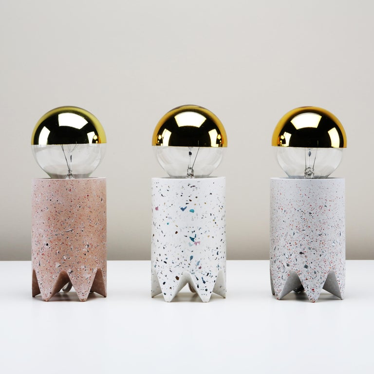 Bob Table Lamp, Grey Cherry Nougat Terrazzo