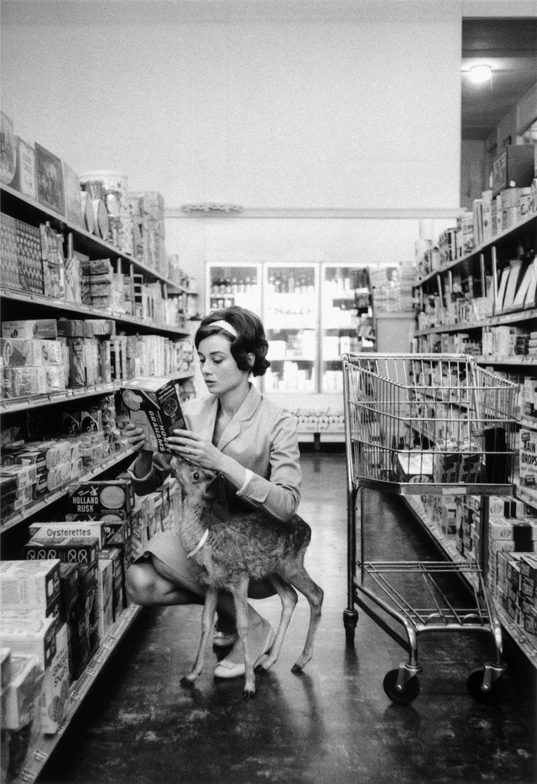 Bob Willoughby Portrait Photograph - Audrey Hepburn, 1958