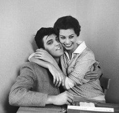 Elvis Presley and Sophia Loren, 1958  - Bob Willoughby (Portrait Photography)
