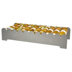 Bobbin 2, Contemporary Indoor/Outdoor Brass Anodized Aluminum Daybed by Laun