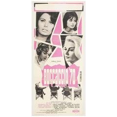 """""""Boccaccio '70"""" 1962 Italian Locandina Poster"""