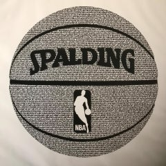 Spalding - best ever basketball players, black and white painting