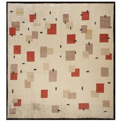 Artistic Silk Rug by Didier Marien, Design N.11, 100% Natural Silk