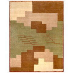 Boccara Hand Knotted Limited Edition Art Deco Rug Design N.14