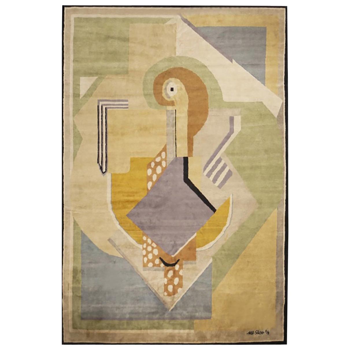 Boccara Limited Edition Artistic Handmade Wool Rug after Albert Gleizes, N.35