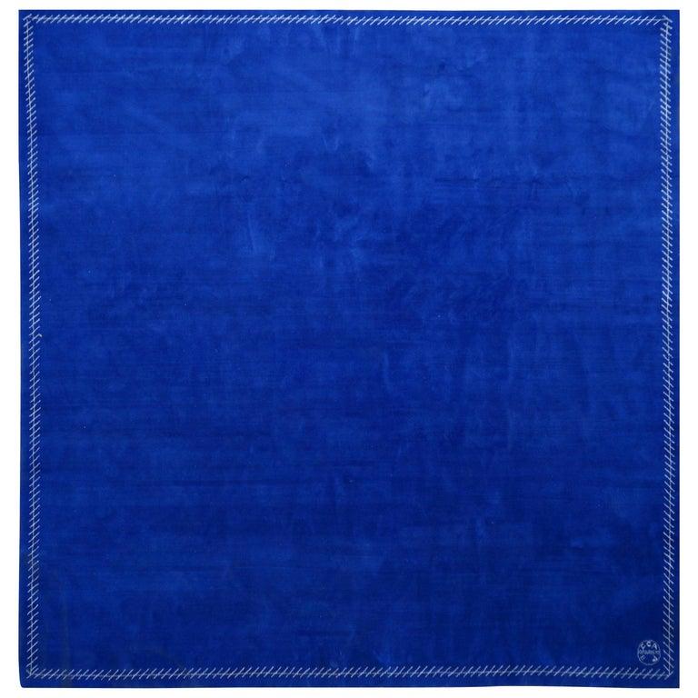 Boccara Limited Edition Artistic Rug Blue Saint Tropez For Sale