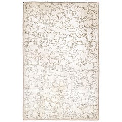 Boccara Limited Edition Artistic Rug Homage to Jean Cocteau, White