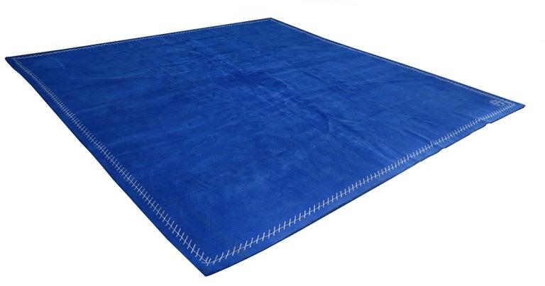 Modern Boccara Limited Edition Artistic Rug Blue Saint Tropez For Sale