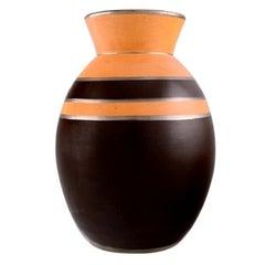Boch Freres Keramis, Belgium, Rare Art Deco Vase in Glazed Ceramics