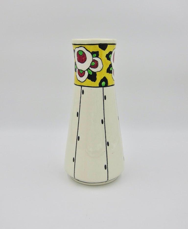 Boch Freres La Louvière Hand Painted Art Deco Vase For Sale 5