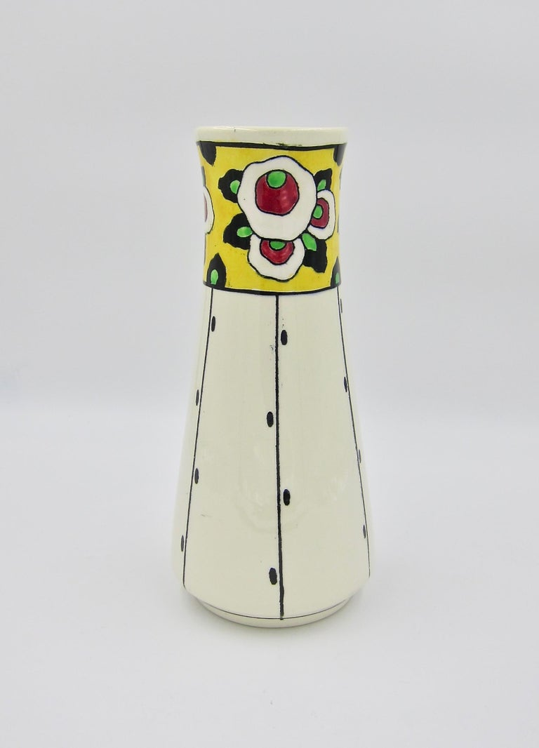 Boch Freres La Louvière Hand Painted Art Deco Vase For Sale 6