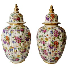 Boch Frères Vase with Stylized Floral Motifs