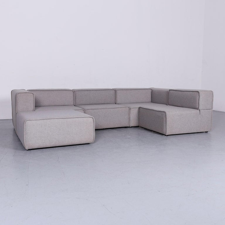 BoConcept Carmo Designer Fabric Sofa Grey Corner-Sofa Couch