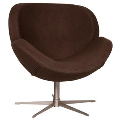 BoConcept Designer Fabric Armchair Brown Swivel Chair