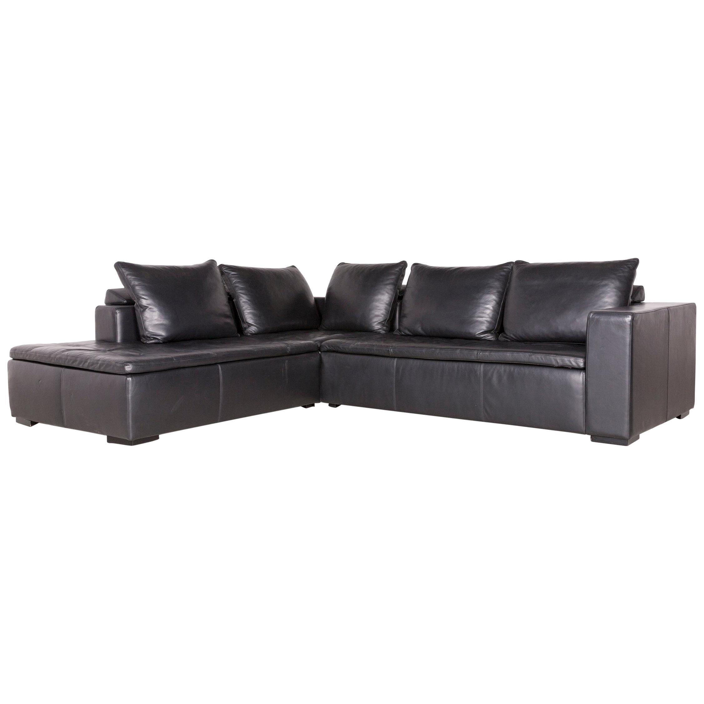 Boconcept Designer Leather Chair White Chrome Elegant