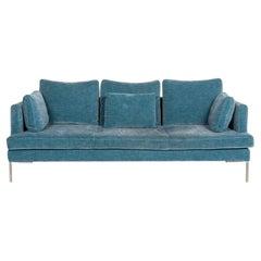 BoConcept Istra Fabric Sofa Blue Three-Seat Couch