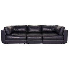 BoConcept Largo Leather Sofa Blue Three-seat