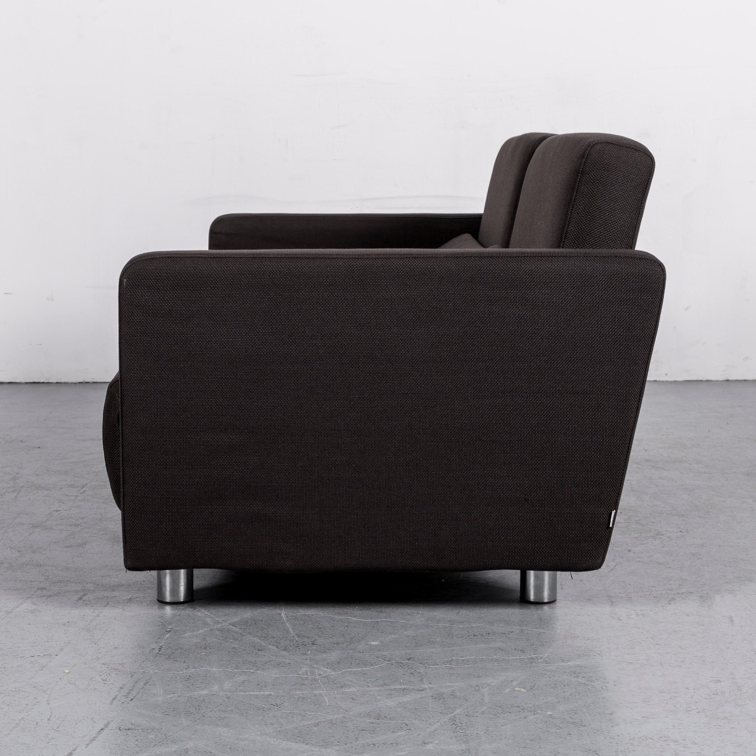 Superbe BoConcept Melo Designer Fabric Sofa Black Two Seat Couch With Function