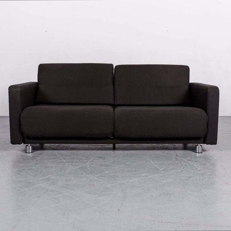 BoConcept Melo Designer Fabric Sofa Black Two-Seat Couch with Function