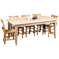 Boden Bespoke Pine Kitchen Table, 20th Century
