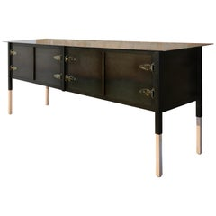 Bodhi Surfer Cabinet / Credenza 4-Door, Steel and Oak, Jordan Mozer, USA, 2013