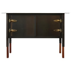Bodhi Surfer Cabinet/Credenza in Steel + Oak/2-Door/ Jordan Mozer USA 2013