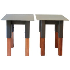 Bodhi Surfer Side Tables / End Tables Steel and Mahogany, Jordan Mozer, USA 2013