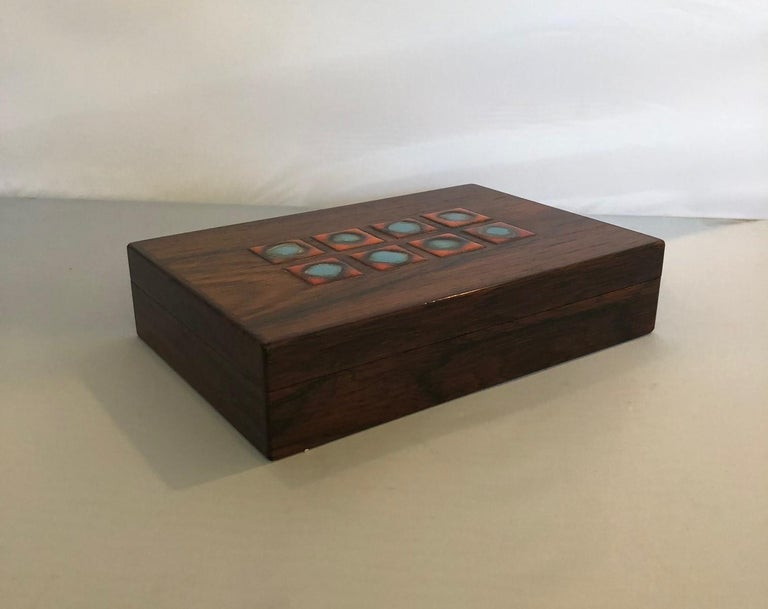 Mid-Century Modern Bodil Eje Danish Rosewood Box / Humidor by Alfred Klitgaard For Sale