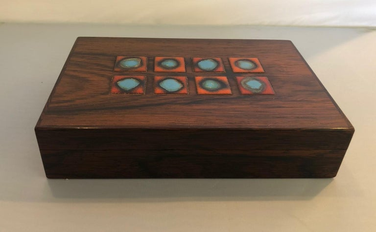 German Bodil Eje Danish Rosewood Box / Humidor by Alfred Klitgaard For Sale