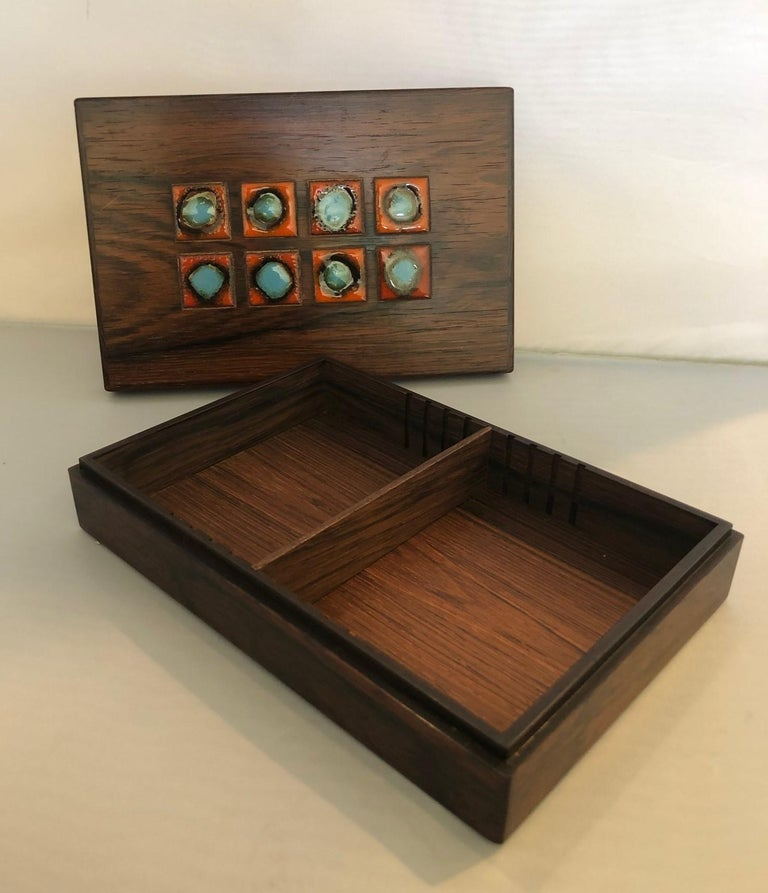 Bodil Eje Danish Rosewood Box / Humidor by Alfred Klitgaard In Good Condition For Sale In San Diego, CA