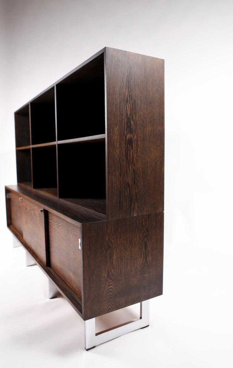 Bodil Kjær, Freestanding Sideboard with Bookshelf in Wenge, 1960s For Sale 3