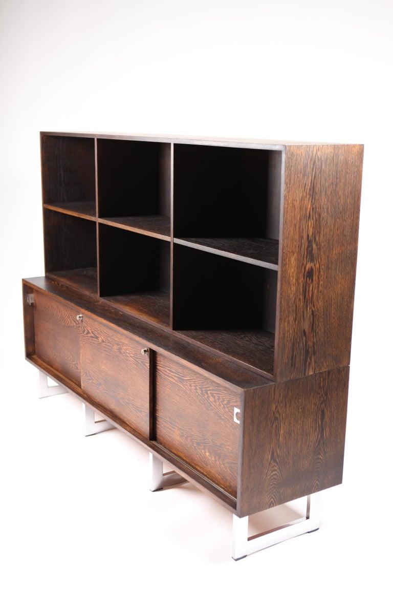 Bodil Kjær, Freestanding Sideboard with Bookshelf in Wenge, 1960s For Sale 5