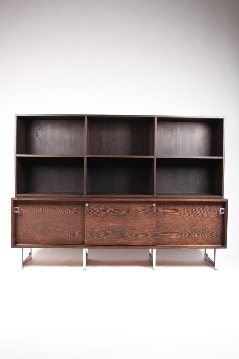 Scandinavian Modern Bodil Kjær, Freestanding Sideboard with Bookshelf in Wenge, 1960s For Sale