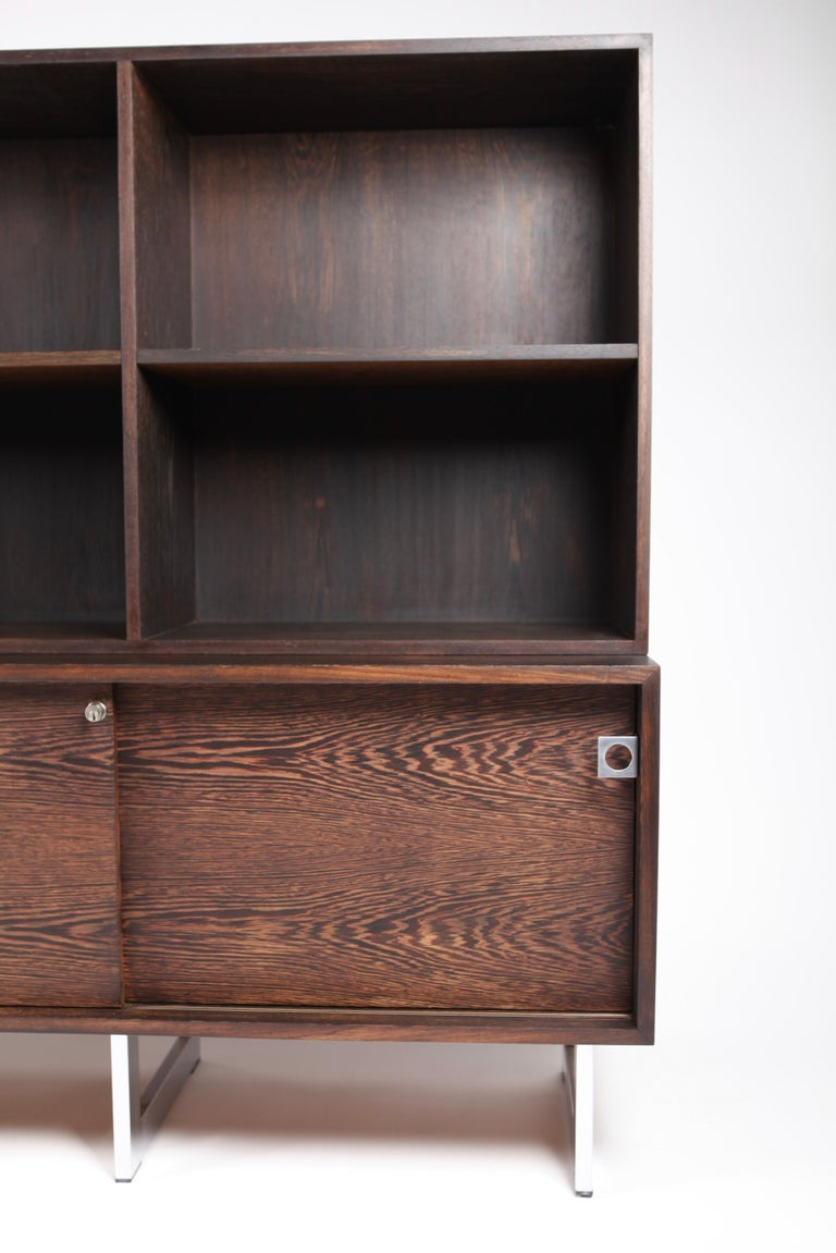 Danish Bodil Kjær, Freestanding Sideboard with Bookshelf in Wenge, 1960s For Sale
