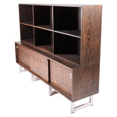 Bodil Kjær, Freestanding Sideboard with Bookshelf in Wenge, 1960s