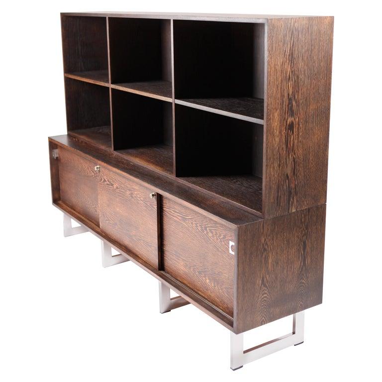 Bodil Kjær, Freestanding Sideboard with Bookshelf in Wenge, 1960s For Sale