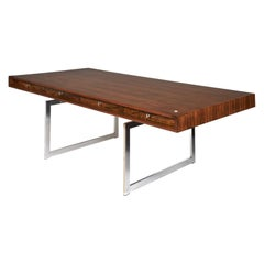 Bodil Kjaer Large Freestanding Rosewood Executive Desk by E. Pedersen & Søn