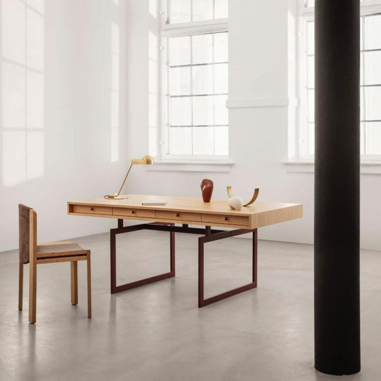 Bodil Kjær Office Desk Table, Wood and Steel by Karakter For Sale 1