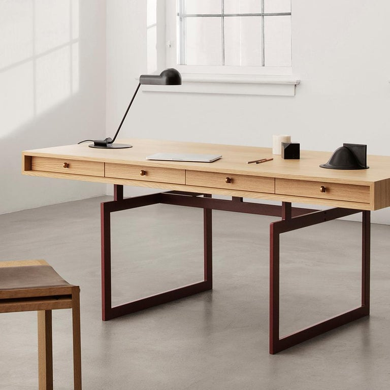 Bodil Kjær Office Desk Table, Wood and Steel by Karakter For Sale 2
