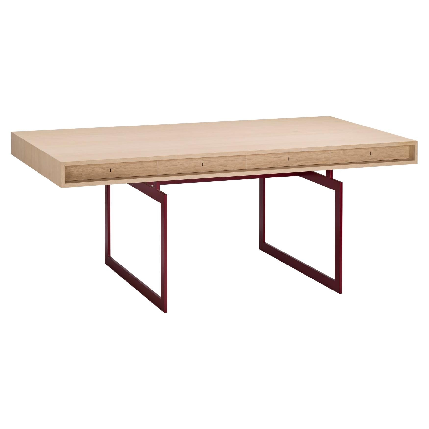 Bodil Kjær Office Desk Table, Wood and Steel by Karakter