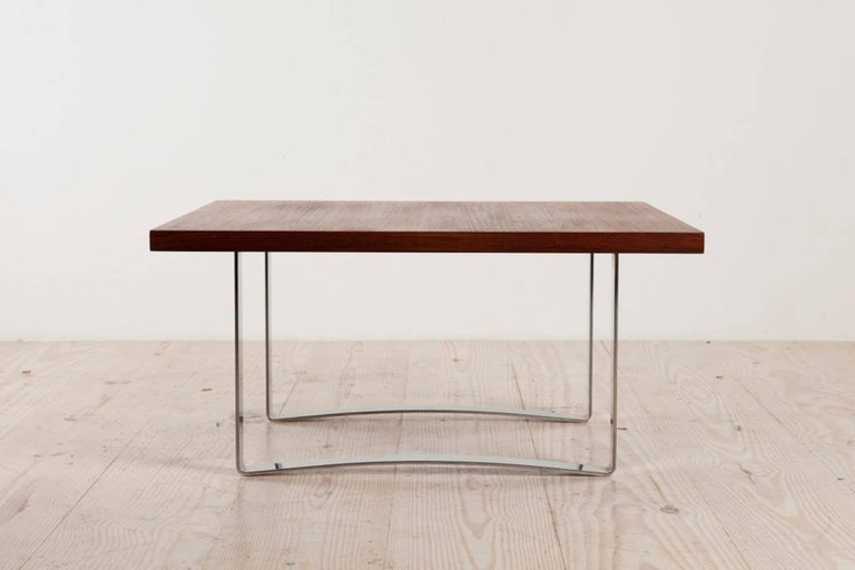 Mid-Century Modern Bodil Kjaer Rare Low Square Coffee Table, circa 1959 For Sale