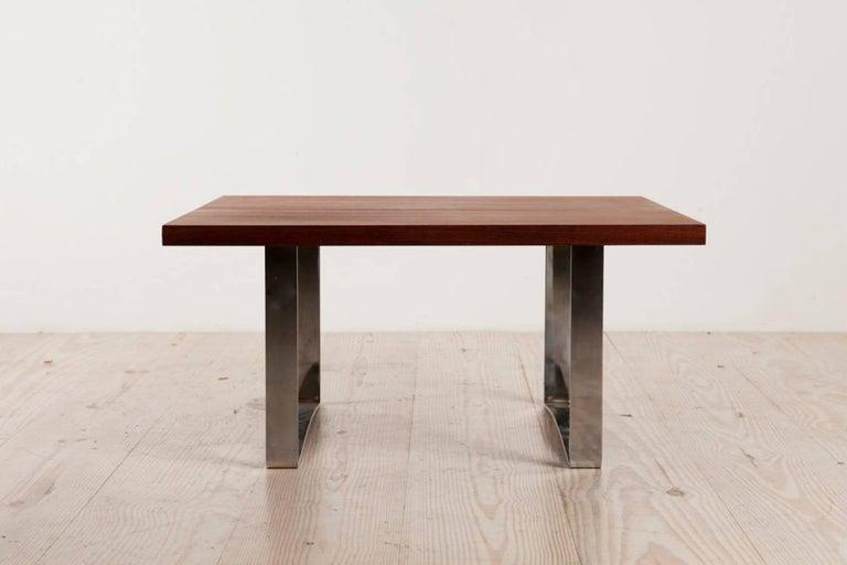 Danish Bodil Kjaer Rare Low Square Coffee Table, circa 1959 For Sale