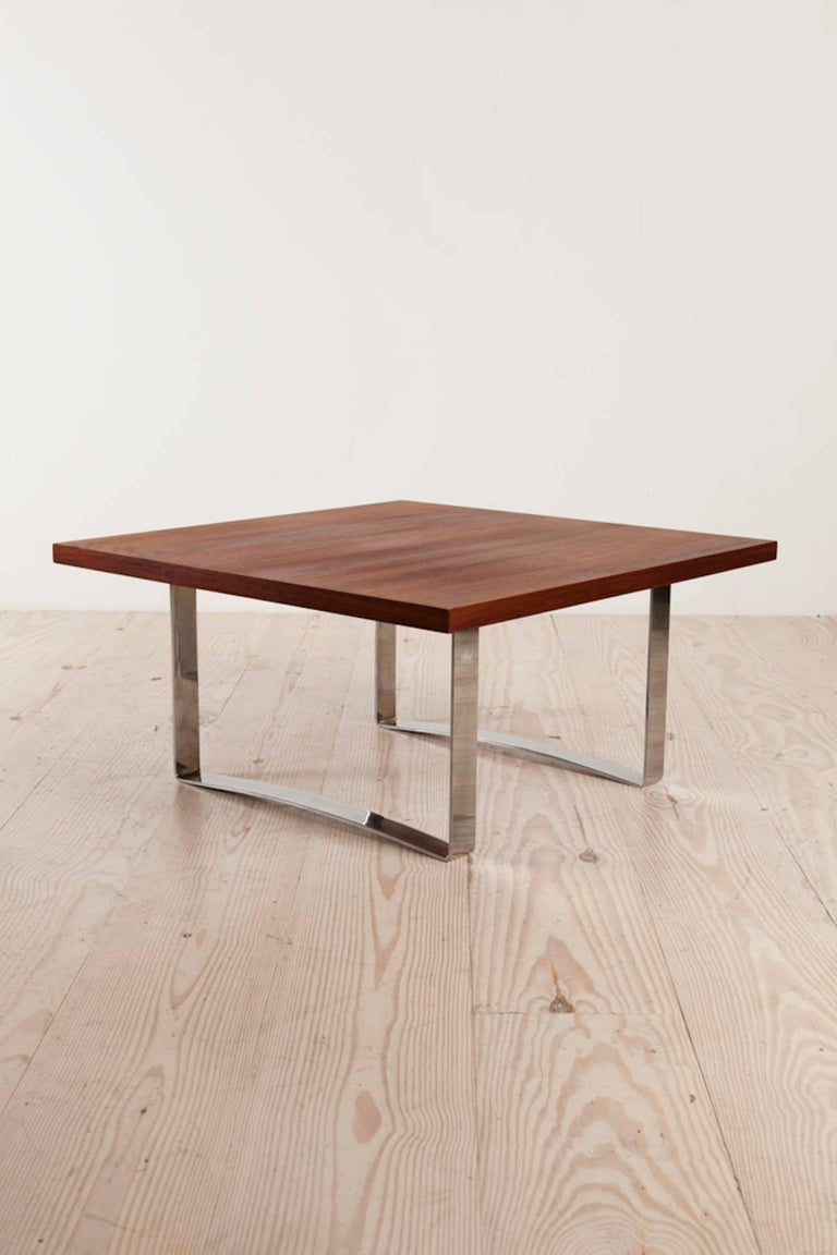 Bodil Kjaer Rare Low Square Coffee Table, circa 1959 In Excellent Condition For Sale In New York, NY