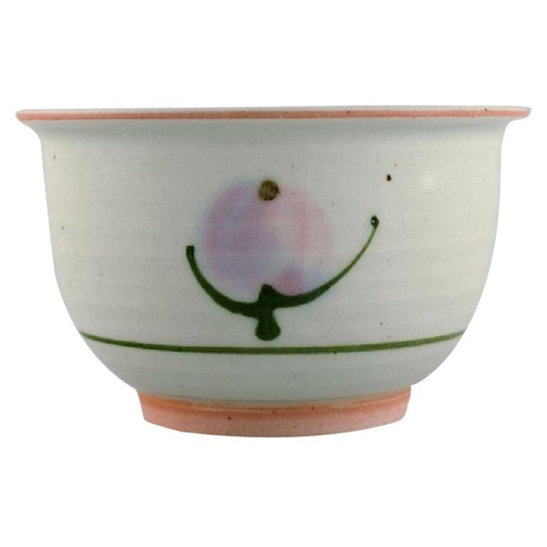 Bodil Manz, Denmark, Unique Bowl in Glazed Ceramics, 1980's