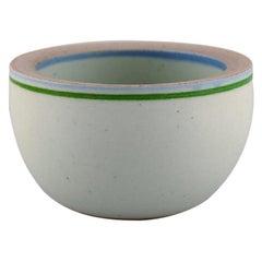 Bodil Manz 'b. 1943', Denmark, Unique Bowl in Glazed Ceramics, 1980's