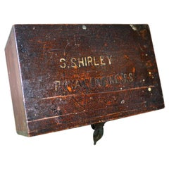 Boer War Period Pine Officer's Box & Artefacts, S.Shirley Royal Engineers c.1900