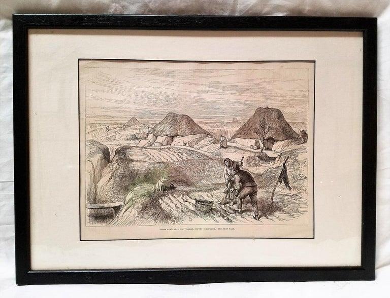 Late Victorian Bog Village Co Roscommon Illustration For Sale
