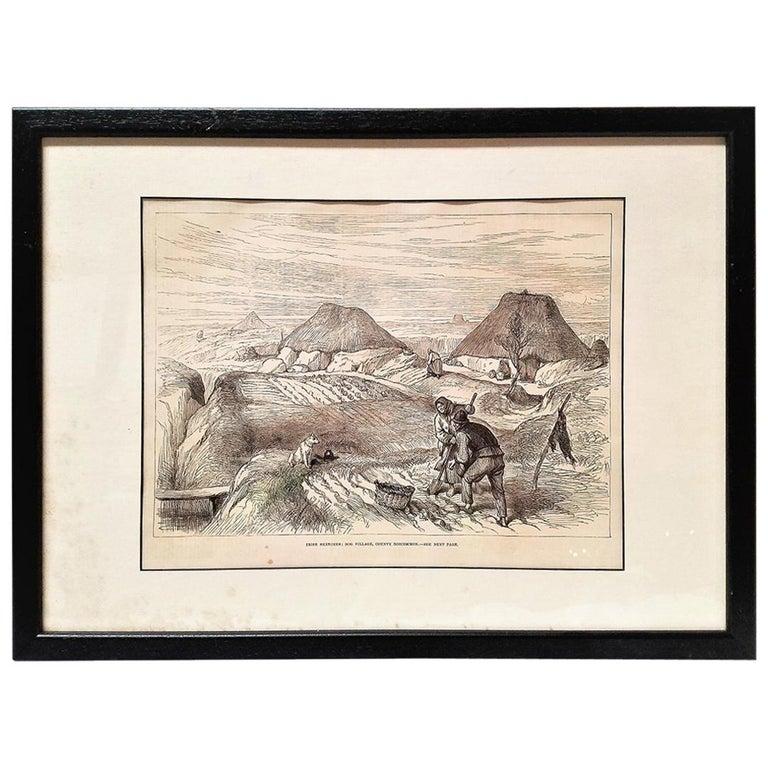 Bog Village Co Roscommon Illustration For Sale