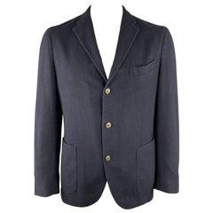 BOGLIOLI 44 Regular Navy Wool Patch Pockets Sport Coat