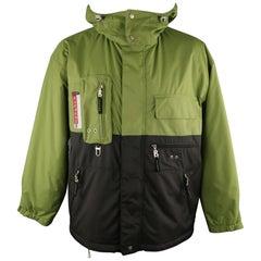BOGNER 40 Green Polyamide Hooded Ski Jacket